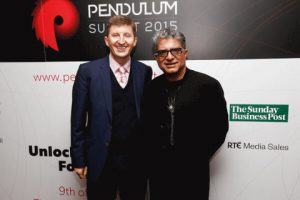 Dr. Mark Rowe with Deepak Chopra
